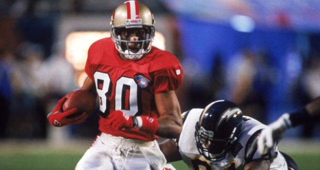 Jerry Rice (#80) in Super Bowl XXIX January 29, 1995