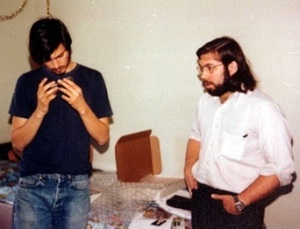 Steve Jobs and Steve Wozniak in 1974